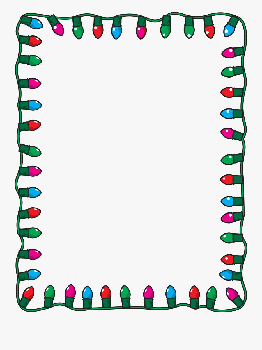 Christmas Lights Clip Art - Clip Art Christmas Borders, Transparent Clipart