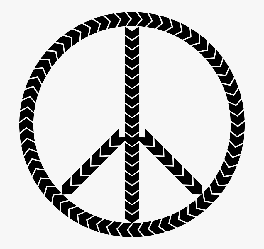 Tire Treads Peace Sign - Tire Circle, Transparent Clipart