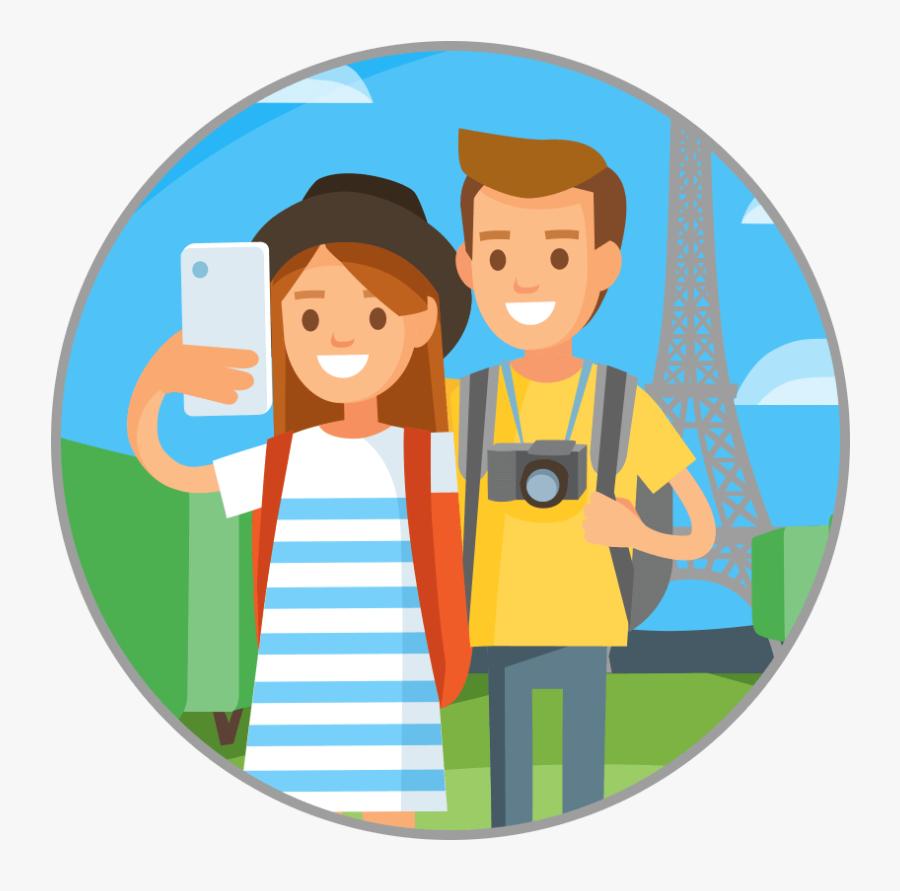 Traveling Clipart Travel Cartoon - Traveler Clipart Png, Transparent Clipart