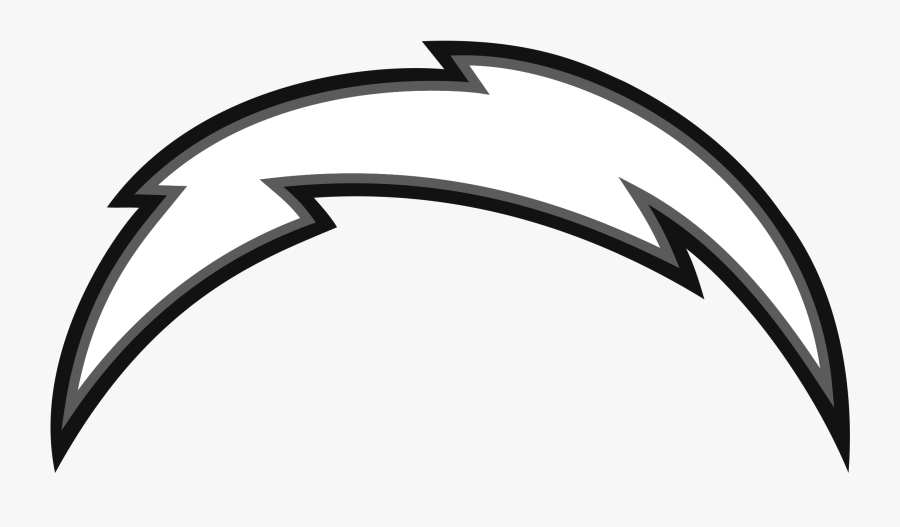 Los Angeles Chargers Logo Black And White - Los Angeles Chargers Bolt, Transparent Clipart