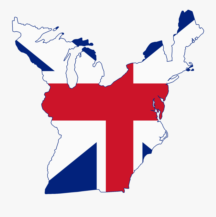 Images Of The Thirteen Colonies - 13 Colonies Flag Map, Transparent Clipart