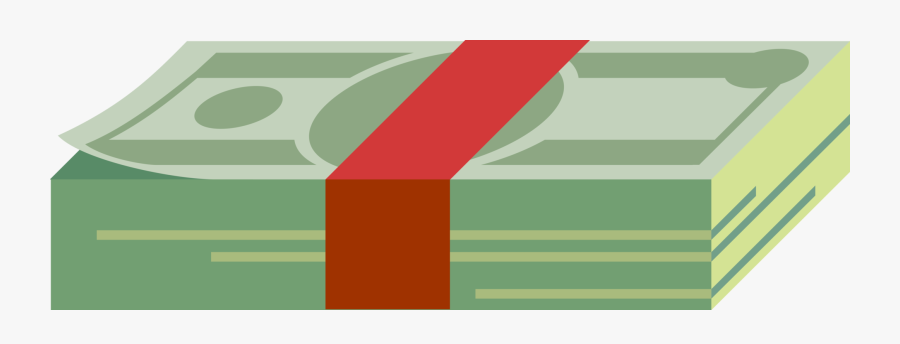 Transparent Stack Of Cash Clipart - Stacked Dollar Bills Vector, Transparent Clipart