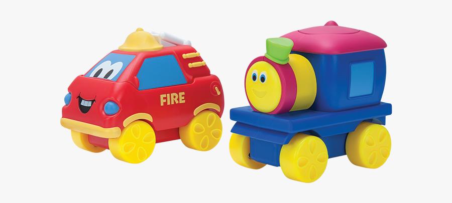 Bob The Train Fire Truck Toy Figure, 2 Figure Pack - Bob The Train Transport Toys, Transparent Clipart