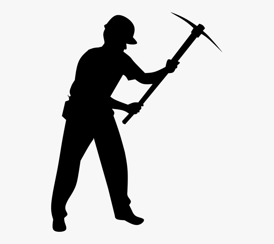 Free Photo Construction Worker Silhouette Mining Isolated - Silhouette Construction Worker Png, Transparent Clipart
