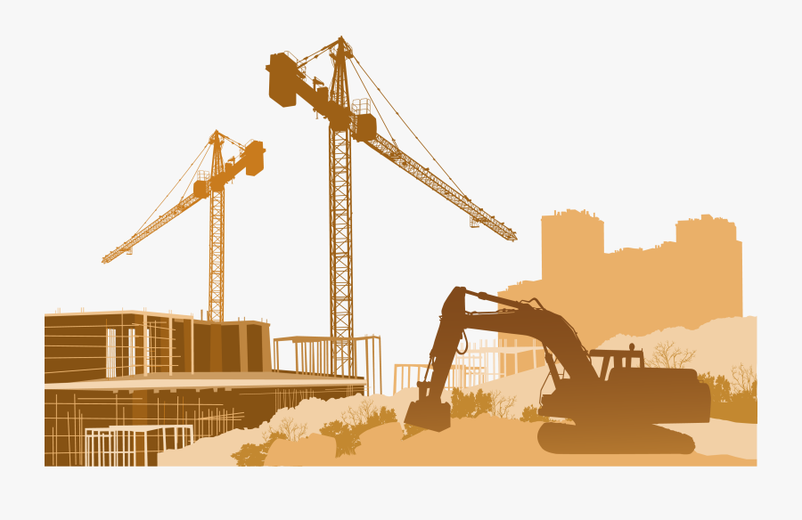 Architectural Engineering Construction Site Safety - Construction Site Vector Png, Transparent Clipart