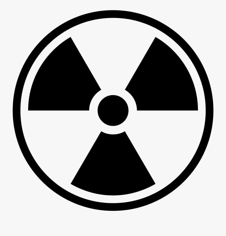 Toxic Symbol Png -biohazard Symbol Clipart Nuclear - Radiation Symbol Black  And White , Free Transparent Clipart - ClipartKey