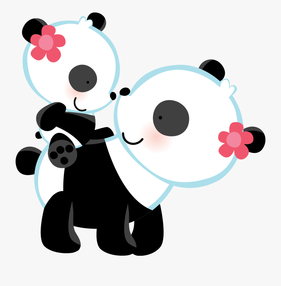 Clipart Bear Mothers Day - Mom And Baby Panda Clipart, Transparent Clipart