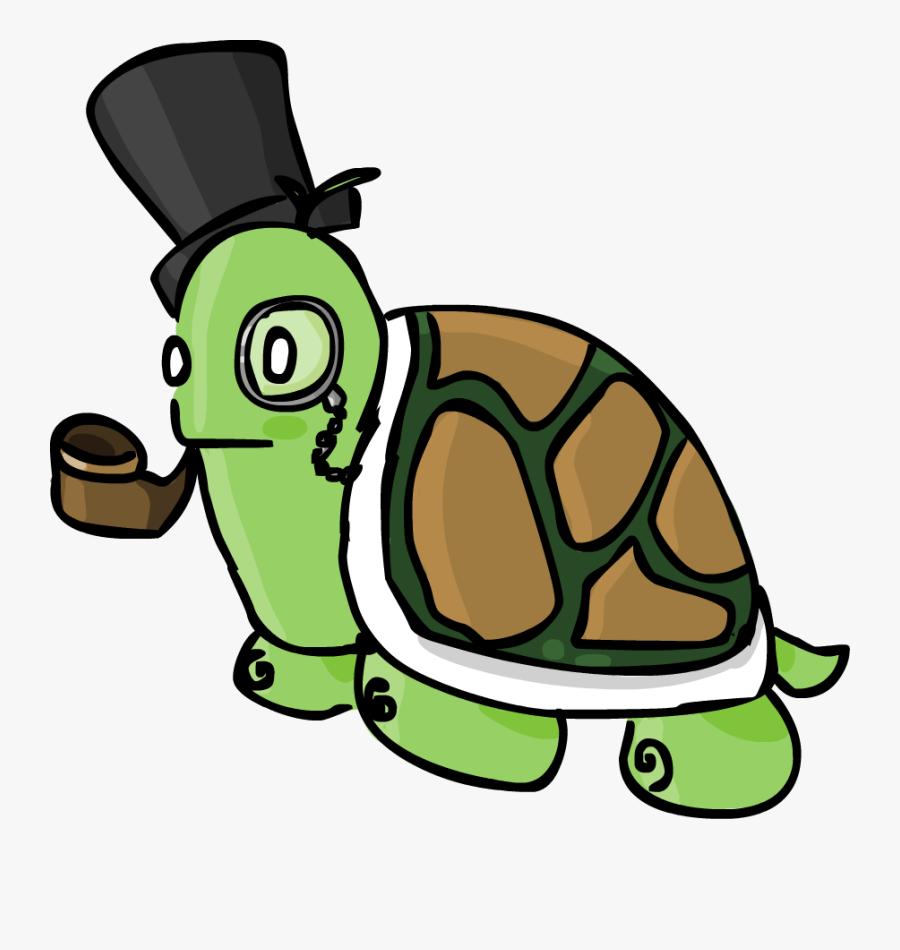 Lake Clipart Turtle - Transparent Turtle With Monocle, Transparent Clipart