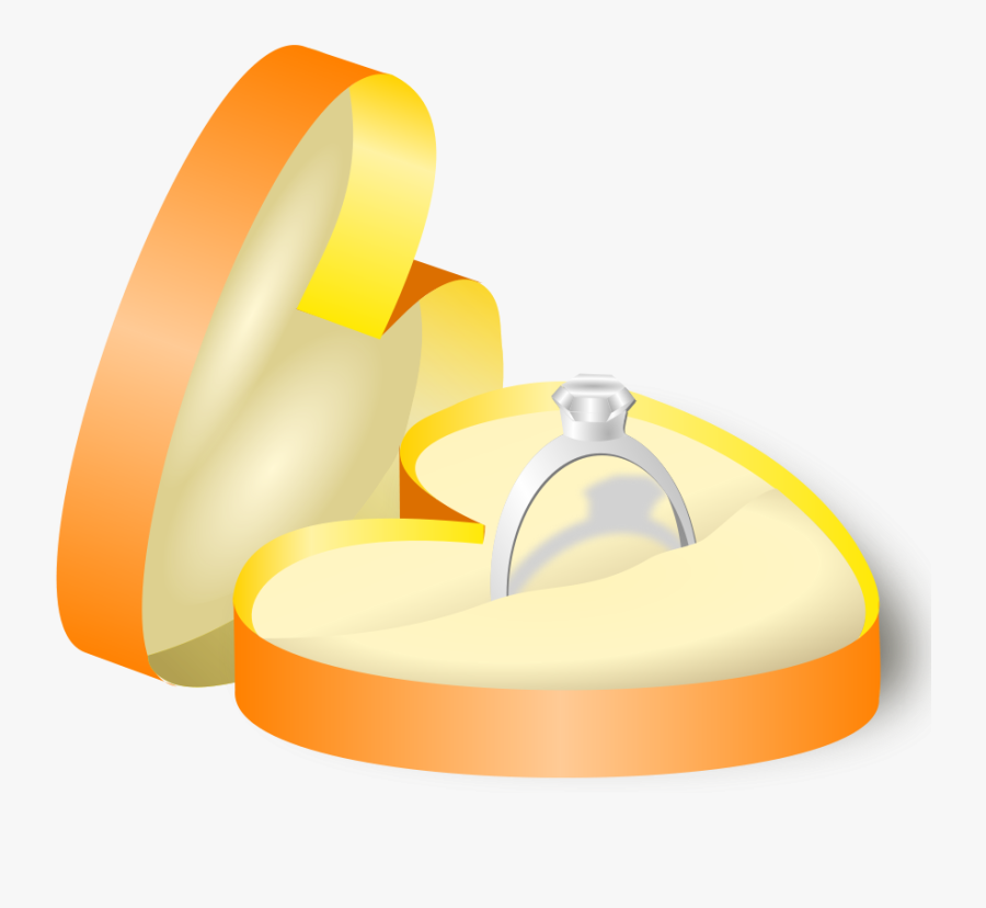 Wedding Ring In A Box - Ring In A Box, Transparent Clipart