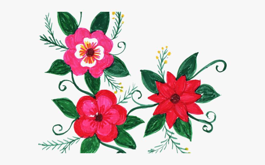 Floral Clipart Group - Corner Design Of Flowers, Transparent Clipart