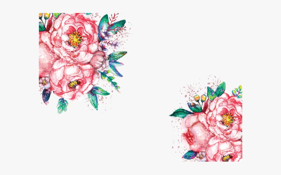Red Watercolor Flower - Watercolor Floral Transparent Clipart, Transparent Clipart