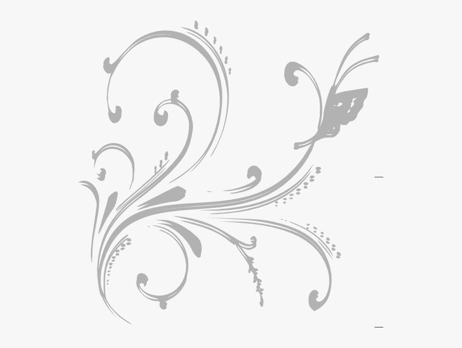 White Floral Designs Png, Transparent Clipart