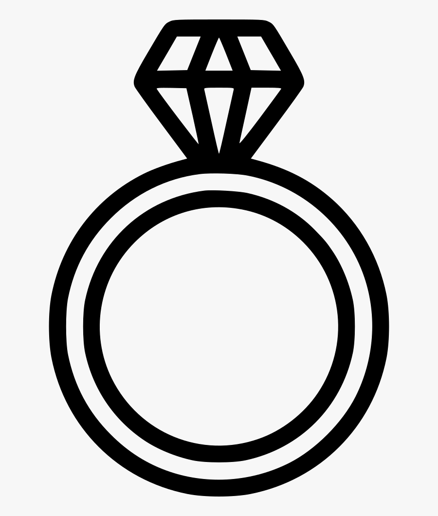 Clipart Diamond Ring Clipart Black And White - Diamond Ring Icon Png, Transparent Clipart