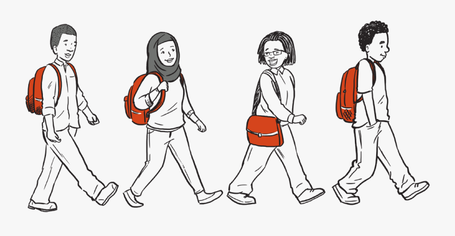 Students Walking Png - Portable Network Graphics, Transparent Clipart