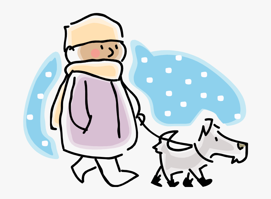 Esl Pets Writing Png Stock - Winter Walk Dog Clipart, Transparent Clipart