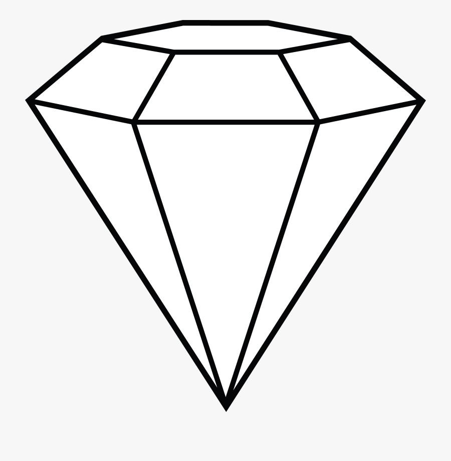 Diamond Coloring Fresh Andrew - Diamond Drawing, Transparent Clipart