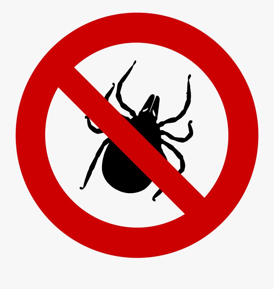 Bug Clipart Tick - No Left Turn Traffic Sign, Transparent Clipart