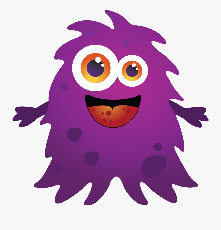 Kids Happy Halloween Clipart - Purple Monster Clipart, Transparent Clipart