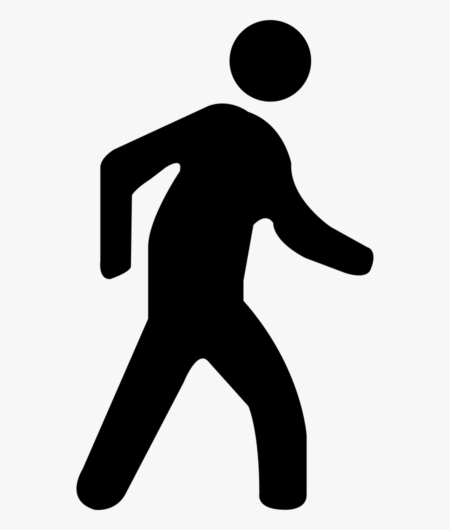 Transparent Guy Walking Clipart - Walking Man Icon Free, Transparent Clipart