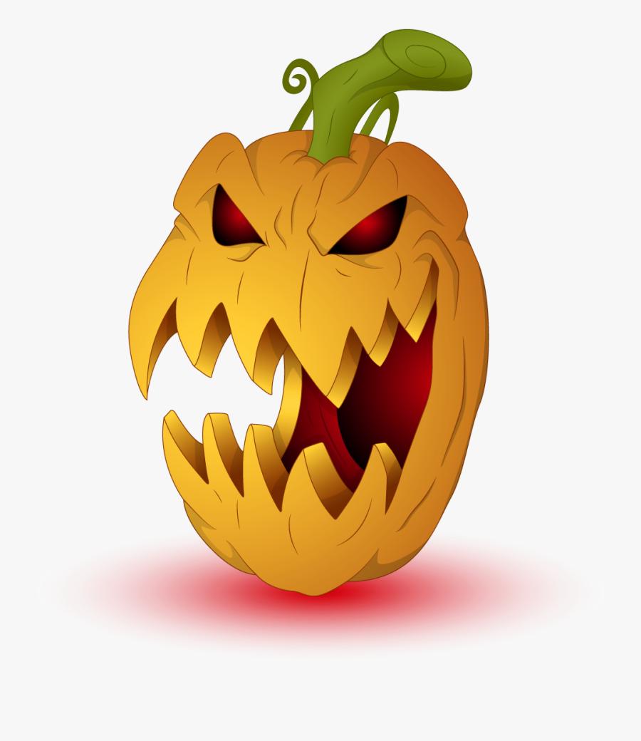 Evil Pumpkin Png - Creepy Jack O Lantern Clipart, Transparent Clipart
