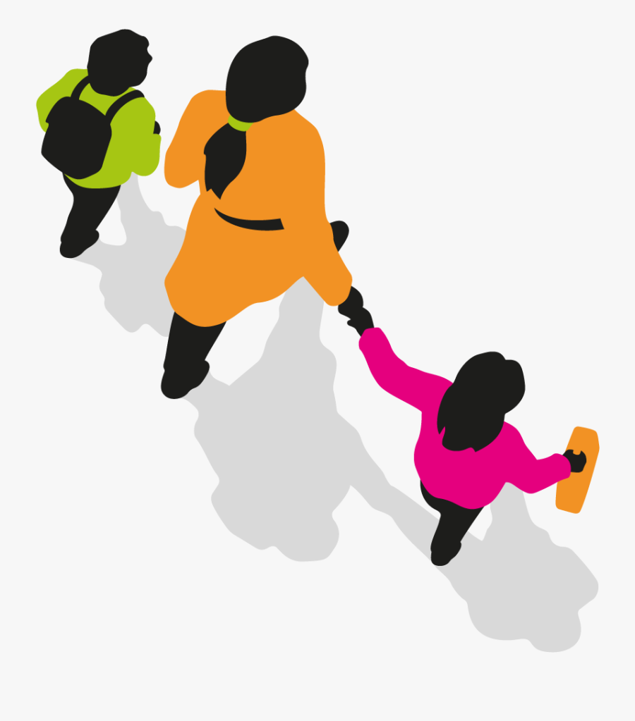 Walk To School - Walking To School Graphic, Transparent Clipart