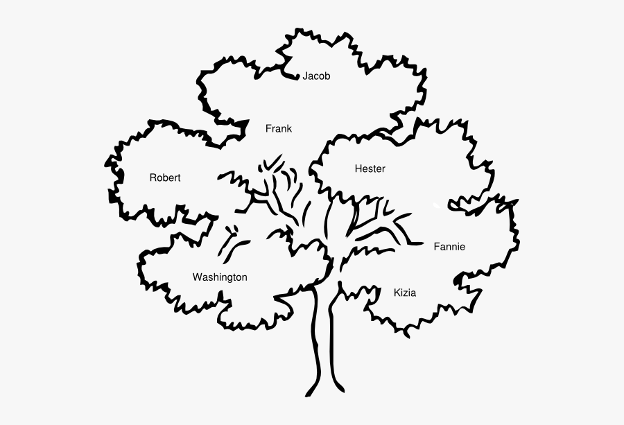 Black And White Cook Family Reunion Tree Clipart Cliparts - Family Reunion Tree Clip Art, Transparent Clipart
