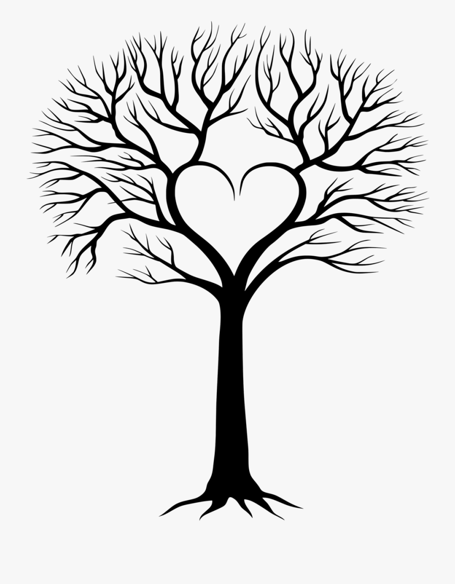 Family Tree With Birds 3 Clipart - Best Family Tree Drawing, Transparent Clipart