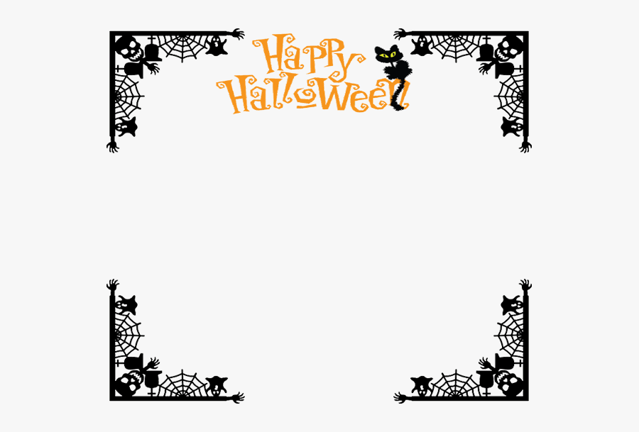 Happy Halloween Clipart Vertical - Transparent Background ...
