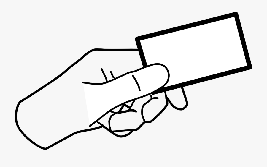 Hand Card Holding Giving Ticket Png Image - Hand Holding Something Clipart, Transparent Clipart