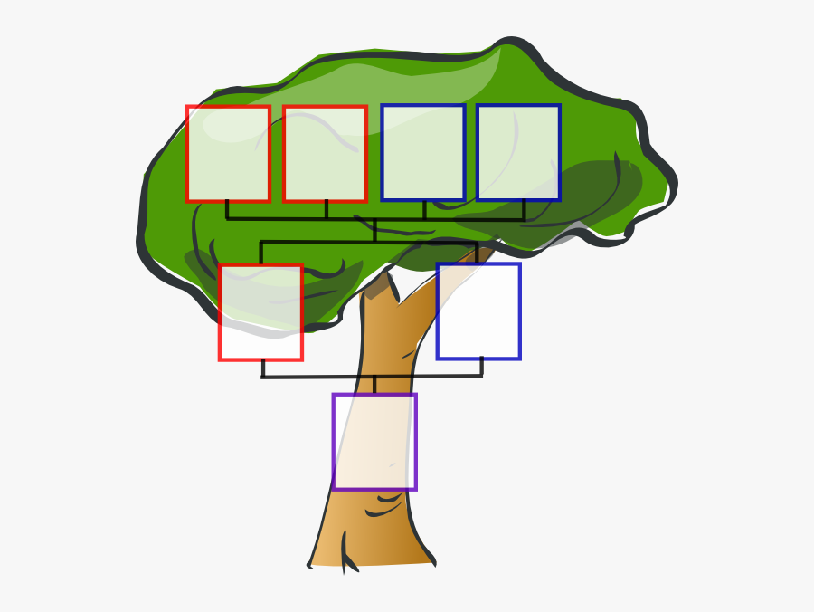 Clip Art Picture Of A Family Tree, Transparent Clipart