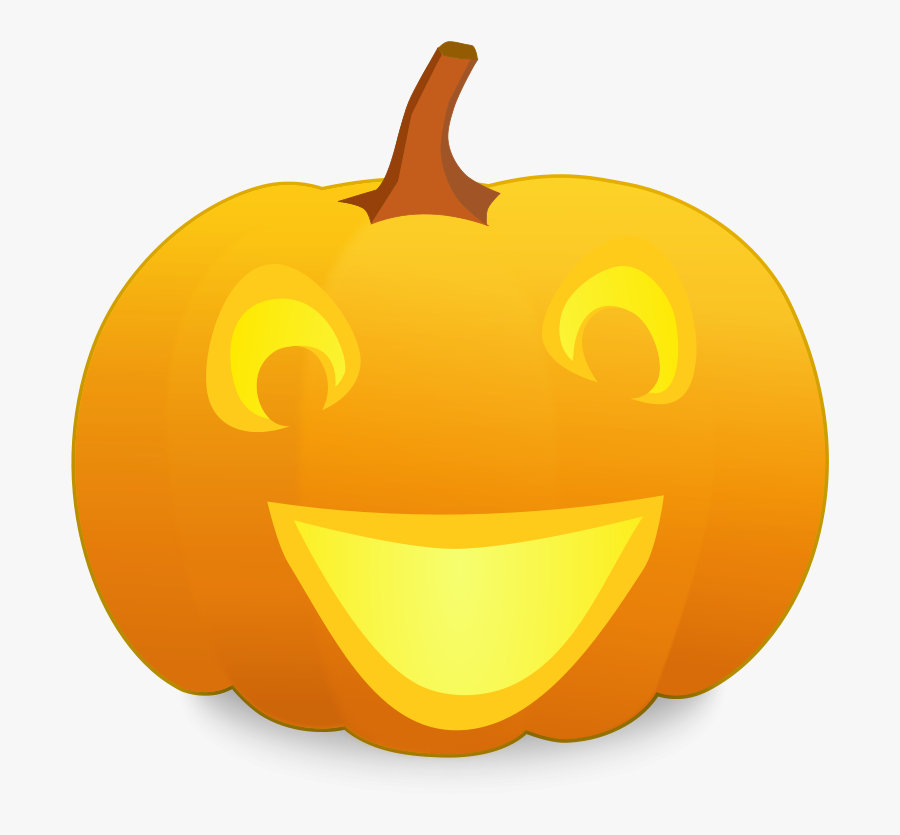 Animated Happy Halloween Clip Art - Smiley Jack O Lantern, Transparent Clipart
