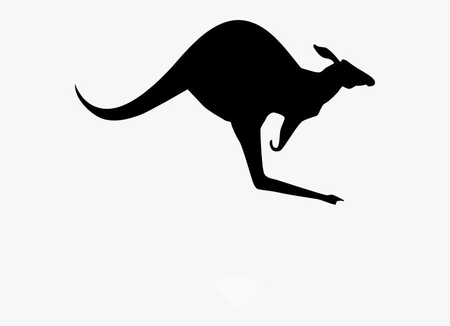 Kangaroo Clipart Black, Transparent Clipart