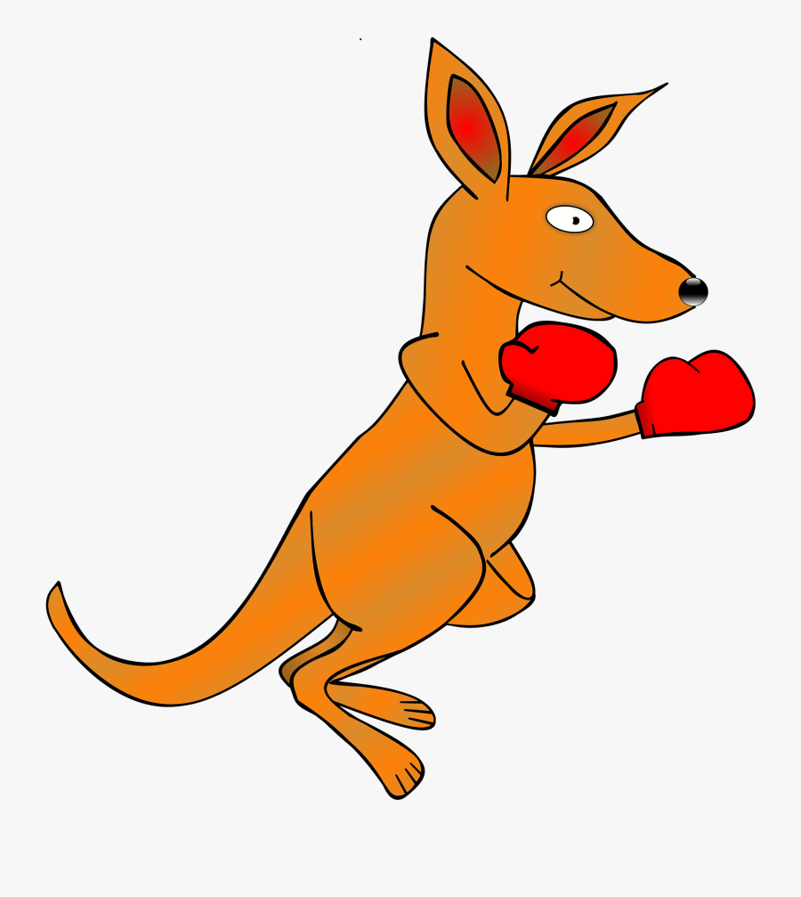 Kangaroo, Clip Art, Boxing Gloves, Animal, Boxer, Bag - จิงโจ้ การ์ตูน น่า รัก, Transparent Clipart