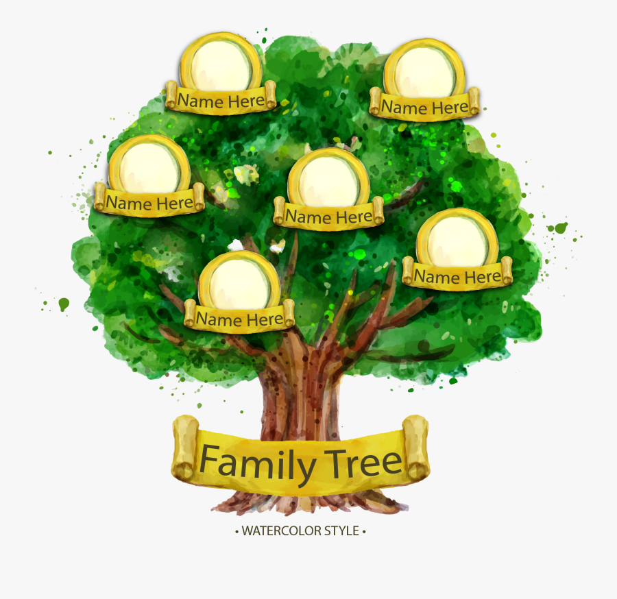 Transparent Family Tree Clip Art - Family Tree Sample Design, Transparent Clipart