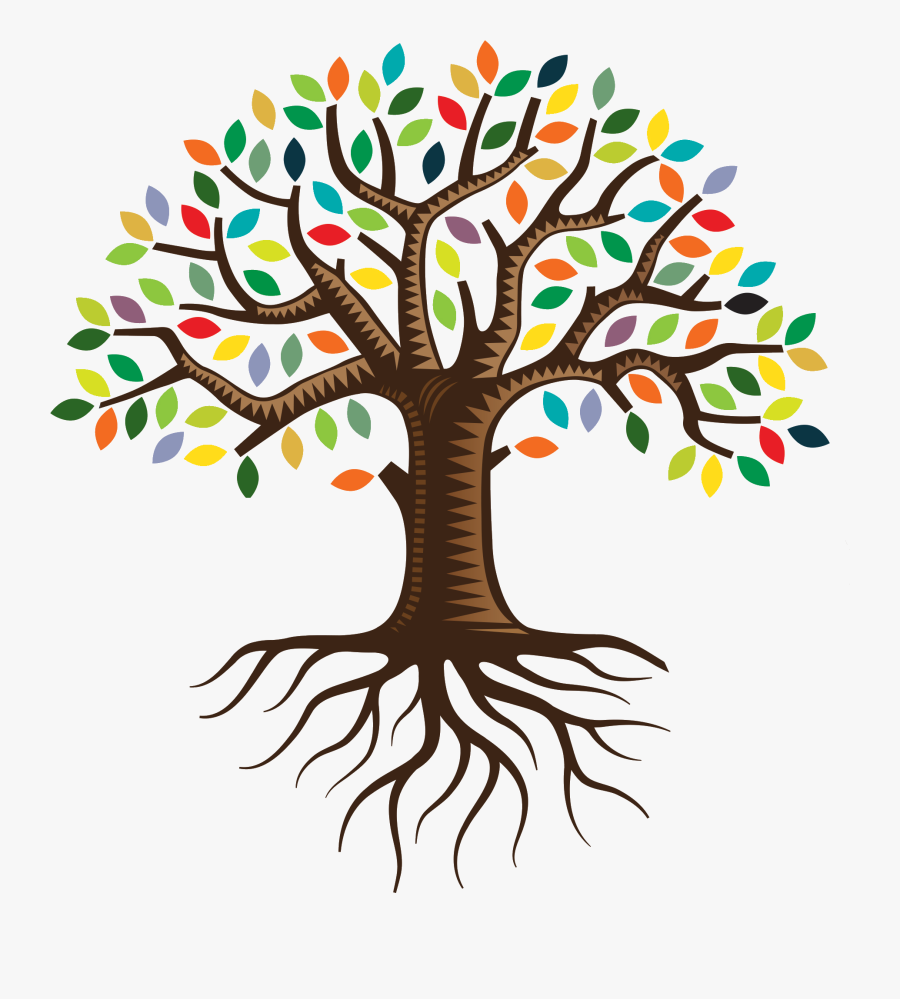 Root Qc Family Tree Logo Clip Art - Tree With Roots Logo, Transparent Clipart