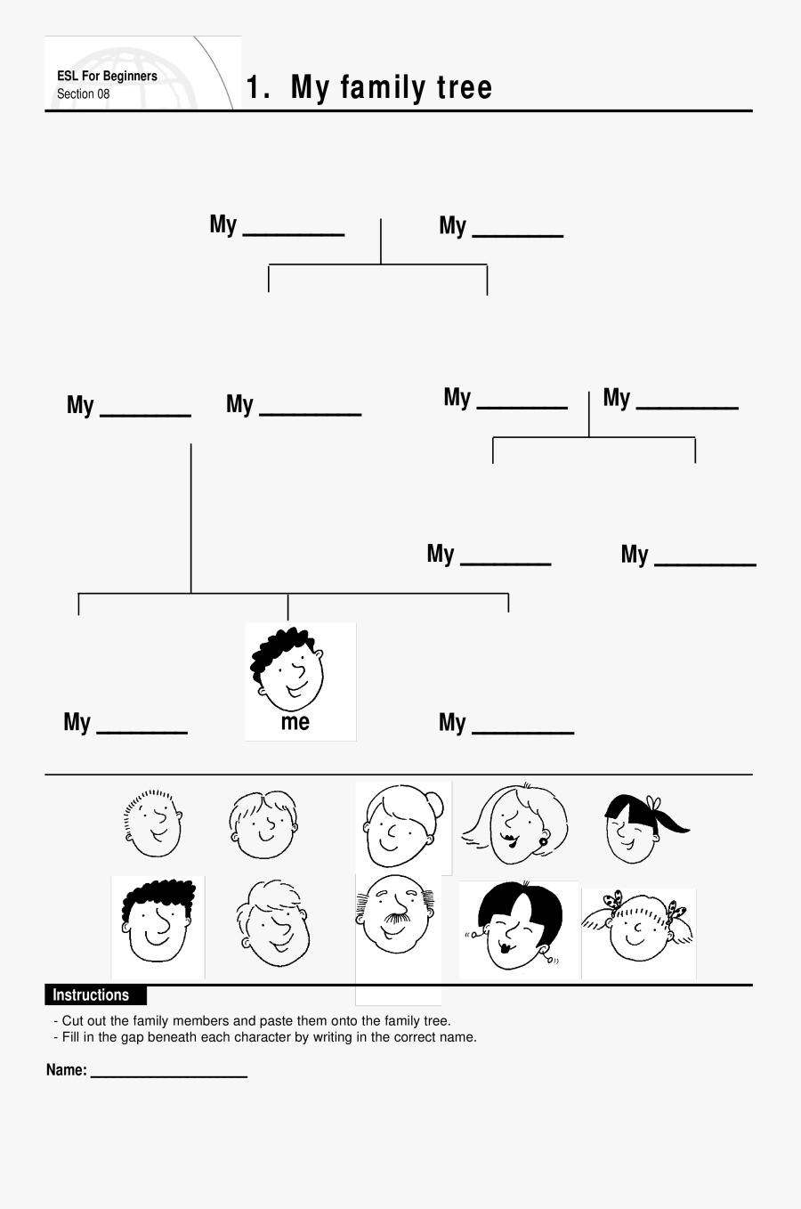 Transparent Family Tree Clipart - Template My Family Tree, Transparent Clipart