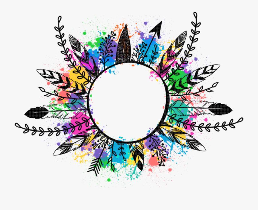 #feather #feathers #arrow #wreath #featherart #featherwreath - Feather Arrow Wreath Png, Transparent Clipart