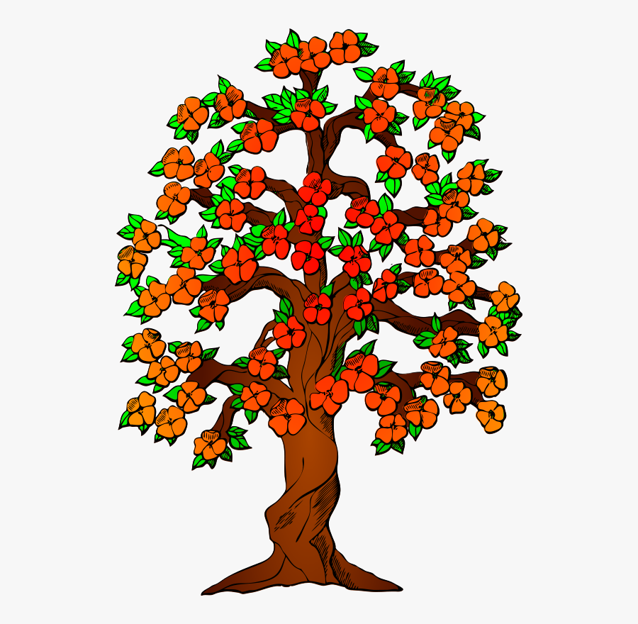 Autumn Fall Tree Leaves Colorful Fall Colors - Trees With Flowers Clip Art, Transparent Clipart