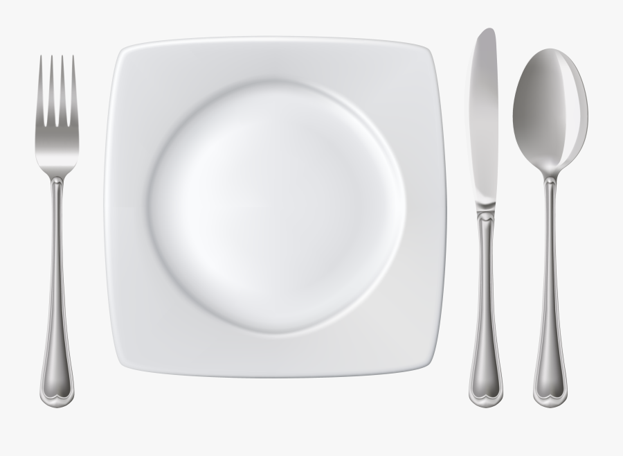 Plate Spoon Knife And Fork Png Clipart - Placemat, Transparent Clipart