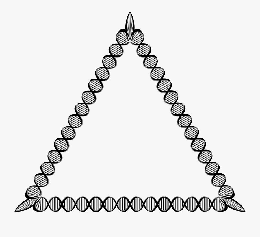 Line Art,symmetry,monochrome Photography - Dna Triangle, Transparent Clipart