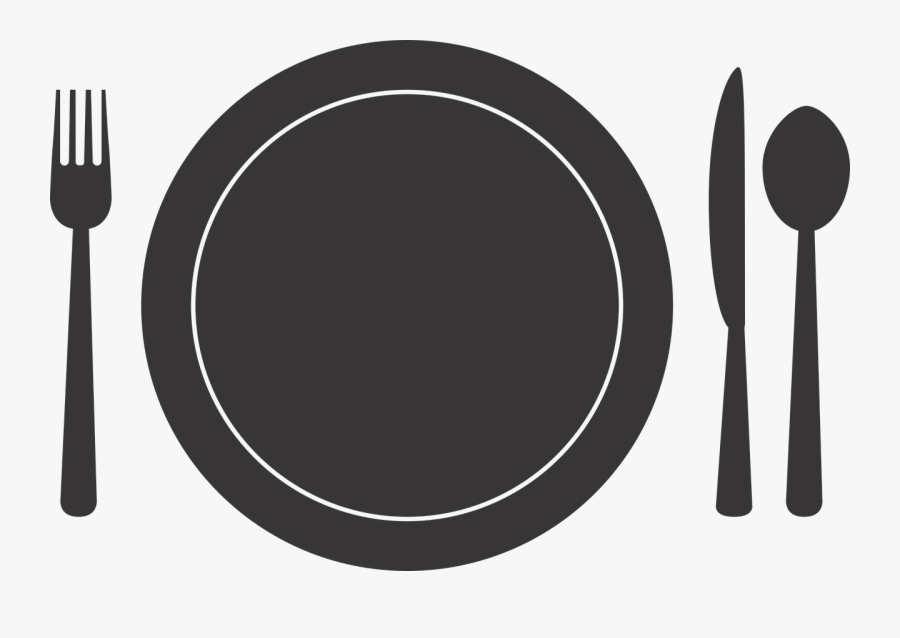 Free Vector Graphic Silverware Plate Fork Spoon Image - Fork Knife And Plate Clipart Transparent, Transparent Clipart
