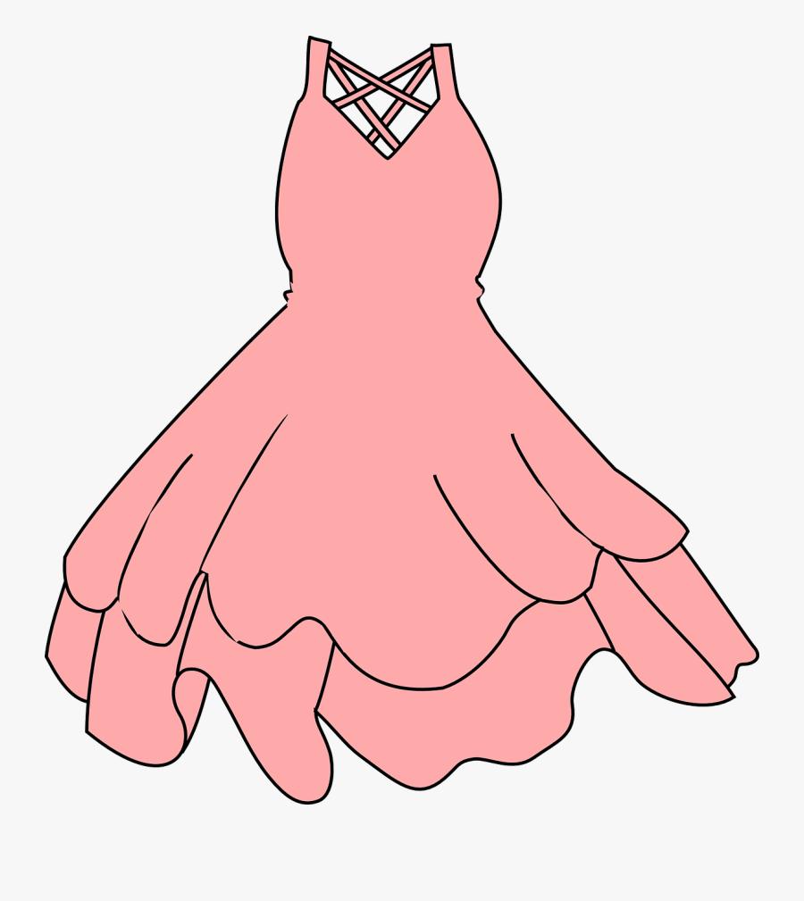 Pink Dress Clip Art - Dress Clip Art, Transparent Clipart