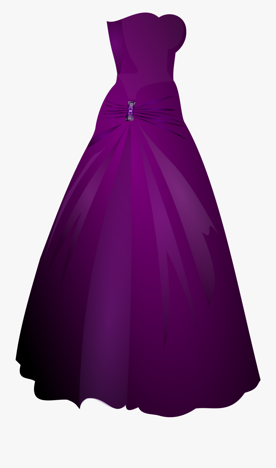 Nightgown - Clipart - Prom Dress White Background, Transparent Clipart