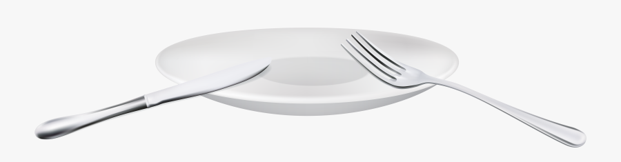 Fork Spoon And Plate Png Clipart - Ceramic, Transparent Clipart