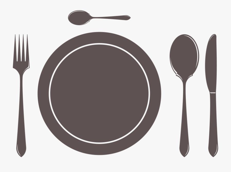 Transparent Fork Clipart - Plate Fork And Knife Png, Transparent Clipart