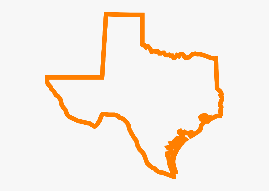 Texas - Outline - Clipart - Orange State Of Texas, Transparent Clipart