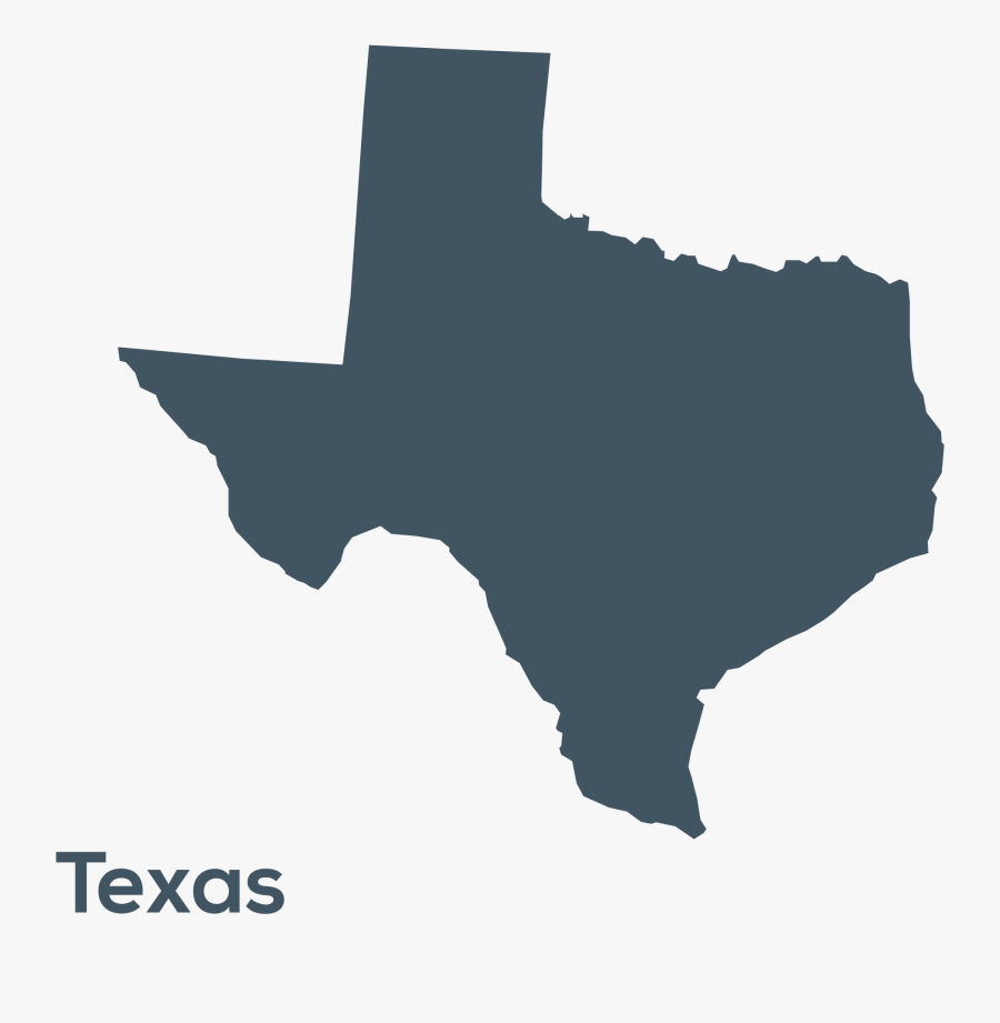 Texas With A Heart, Transparent Clipart