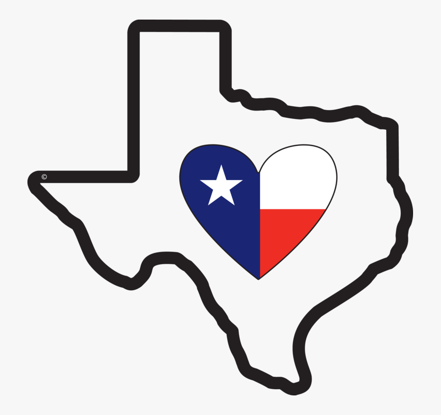 Clip Art Free State Download Nevadautah - Texas State With Heart, Transparent Clipart