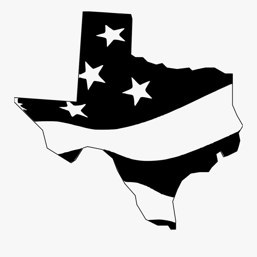Texas Clipart File - Texas State Flag Black And White, Transparent Clipart