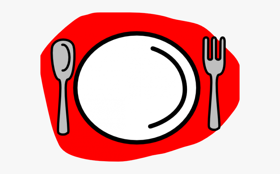 Spoon And Fork Clipart - Plate Spoon And Fork Png, Transparent Clipart